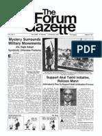 The Forum Gazette Vol. 2 Nos. 3 & 4 February 6-21, 1987