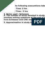 CFA level one Study plan