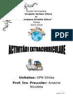 Activitati Extracurriculare 2015-2016