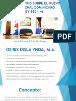 Conversatorio Sobre El Nuevo Codigo Penal Dominicano 17-03-2015 Corregido 1