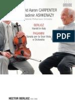 Berlioz - Harold in Italy; Paganini - Sonata Per La Gran Viola