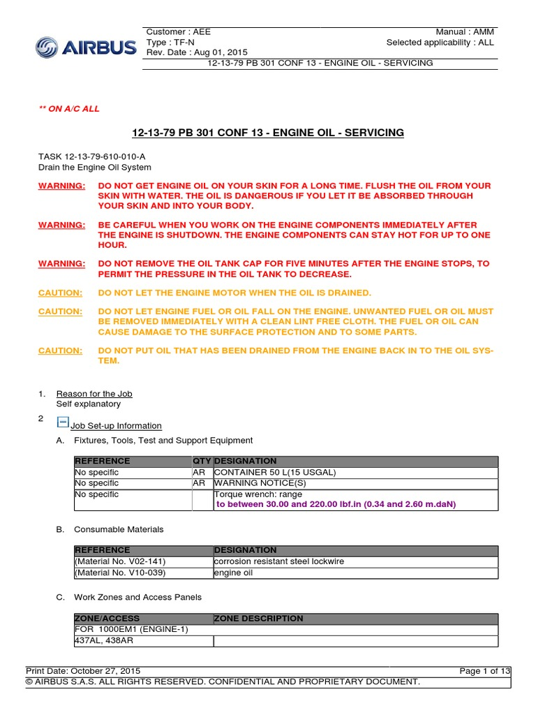 airbus a320 eng oil gallon motor oil rh scribd com Equipment Manuals Rt6 Heavy Equipment Manuals