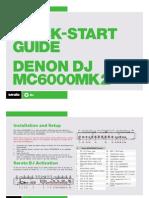Denon DJ MC6000MK2 Quickstart Guide