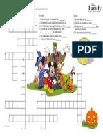 Disney Mickey Mouse Halloween Crossword Puzzle