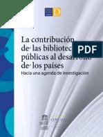 Strongla c417ntribucion de Las Bibliotecas Publicas Al Desarrollo de Los Paises Hacia Una Agenda de Investigacion i Cerlalc 2012