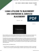 Como Utilizar Tu Blackberry