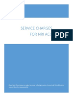 SBI - Service Charges for NRI Services