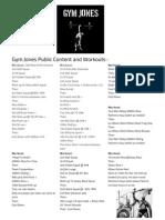 Gym Jones Workout and Public Content