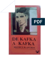 Blanchot Maurice - De Kafka a Kafka