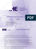 Webinar IHE Pharmacy DomainUpdate 20150909 Final