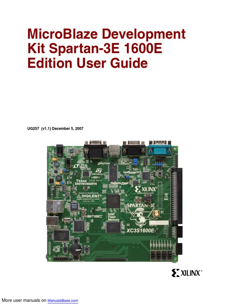 Microblaze Development Spartan 3e 1600e Field Programmable Gate Diagram Likewise Rs232 Db9 Connector Pinout On 9 Pin Din Cable Array Switch