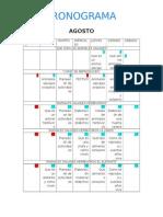 Cronograma Proyecto Aula