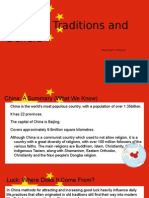 chinese traditions and beliefs - mandarin project