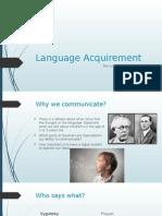Language Acquirement