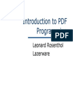 Introduction to PDF Programming