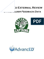 advanced external review stakeholder feedback data- waterford kettering