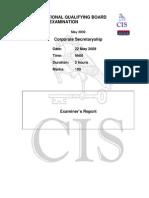 Corporate Secretaryship - Examiner Report May 2009