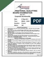 Corporate Secretaryship Paper - May 2011