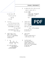 Trigonometry Further Questions Worksheet g Soln