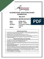 Corporate Secretaryship Paper May 2014