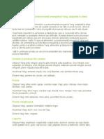 Lista Alimentelor Cu Predominanţă Energetică Yang