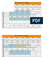 Summer of Evangelism Schedule