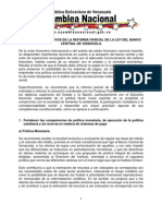 Primera Reforma Parcial a la Ley del Banco Central de Venezuela