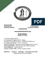 Good Shepherd ANCC Bulletin 11/1/2015