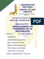 INFORME 3 DE LABORATORIO DE FISICA UNMSM
