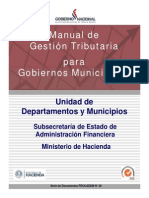 Manual de Gestion Tributaria Para Municipalidades