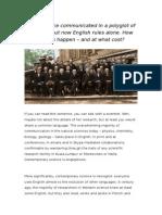English as the Scientific Language