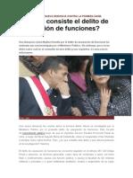 DELITO USURPACIÓN DE FUNCIONES