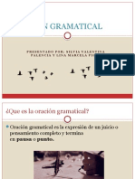 ORACIÓN GRAMATICAL