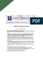 Week of November 2nd, 2015   Class of 2017 Newsletter