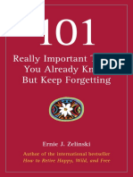 101 Really Important Things You Already Know But Keep Forgetting Sample Chapters
