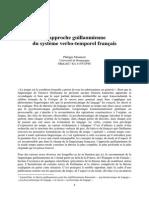 Philippe Monneret L'Approche Guillaumienne Du Système Verbo-temporel Français