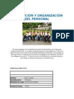 Descripción y Organización Del Personal