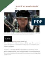 Burma's Ethnic Areas All but Peaceful Despite Recent Ceasefire