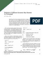 Roy (1988) Prediction of Optimum Economic Pipe Diameter