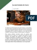 Las 5 Jugadas Más Brutales de Garry Kasparov