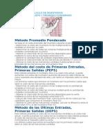Metodos de Calculo de Inventarios Ueps Peps Promedio Ponderado
