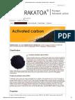 About Activated Carbon - Karbon Aktif - Activated Carbon - Aktif Karbon