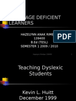 Language deficient learner