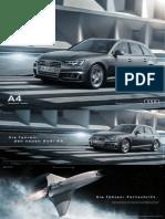 Audi A4 sedan and Avant Brochure (B9, Germany)