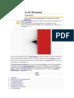 Función Dseta de Riemann