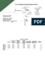 Formato Calculo y Diseño Tanques API 650.