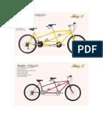 Bicicleta Tandem