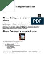 iPhone Como Configurar La Conexion Internet