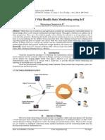 Cloud Based Vital Health Stats Monitoring using IoT