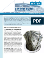 Flush the Water Bond! Why Californians Should Oppose the Bond on the November Ballot Fact